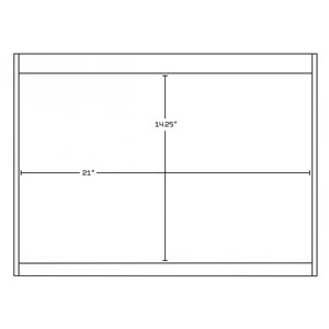 "American Imaginations Xena Vanity Base Set - 60.5"" x 21.5"" - White"