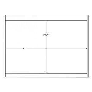 "American Imaginations Xena Vanity Base Set - 74.5"" x 21.5"" - Gray"
