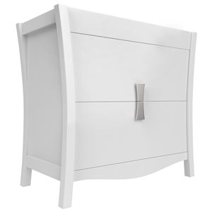 36-in Bow Modern Birch Wood-Veneer Vanity Base Only