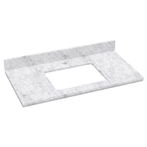 """American Imaginations Elite Marble Top - 36"""" x 18.25"""" - White"""