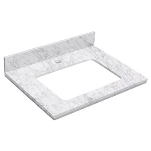 """American Imaginations Elite Marble Top - 23.75"""" x 18.25"""" - White"""