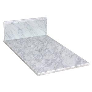 """American Imaginations Juliet Marble Top - 11.75"""" x 19"""" - White"""