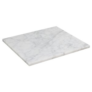 """American Imaginations Metro Marble Top - 13.5"""" x 15"""" - White"""