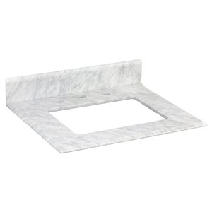 """American Imaginations Juliet Marble Top - 23.5"""" x 19.5"""" - White"""