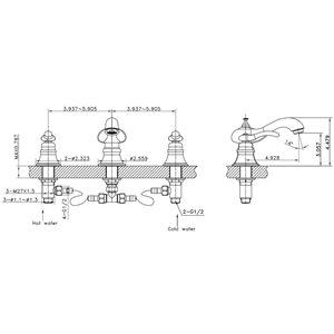 "American Imaginations Above Counter Vessel Set - 16.25"" x 29.5"" - White"