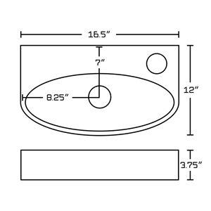 "American Imaginations Above Counter Vessel Set - 16.5"" x 29.5"" - White"