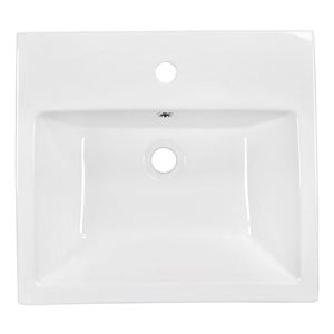 "American Imaginations Above Counter Vessel Set - 19"" x 30.5"" - White"