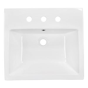"American Imaginations Above Counter Vessel Set - 20.5"" x 30.5"" - White"