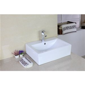 "American Imaginations Above Counter Vessel Set - 20.25"" x 30"" - White"
