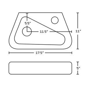 "American Imaginations Above Counter Vessel Set - 17.5"" x 30"" - White"