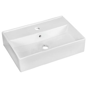 "American Imaginations Above Counter Vessel Set - 19.75"" x 30"" - White"