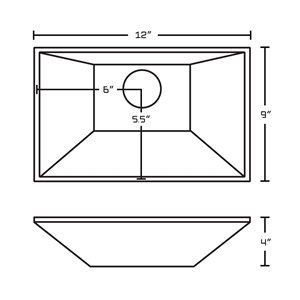 "American Imaginations Above Counter Vessel Set - 12"" x 30"" - White"