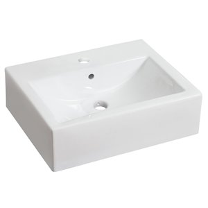 20.25-in W x 16.25-in B2F Above Counter Rectangle Vessel
