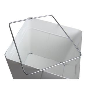 Frost Swing Top Waste Receptacle - White