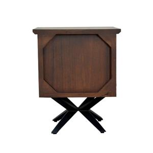 "CDI Furniture Streamline Nightstand - 16"" x 22"" - Wood - Brown"