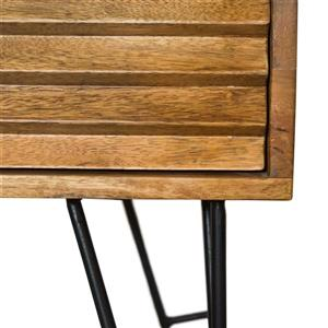 "CDI Furniture Shutter Nightstand - 23"" x 23"" - Wood - Natural"