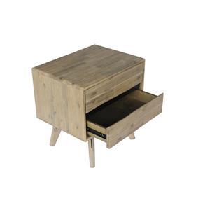 "CDI Furniture Orson Nightstand - 22"" x 22"" - Wood - Natural"