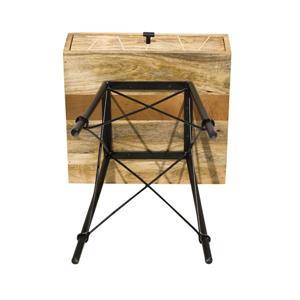 "CDI Furniture Mosaic Nightstand - 18"" x 24"" - Wood - Natural"