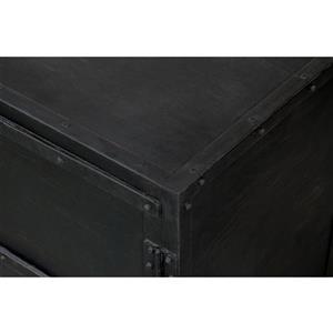 "CDI Furniture Industrial Nightstand - 17"" x 27"" - Wood - Black"