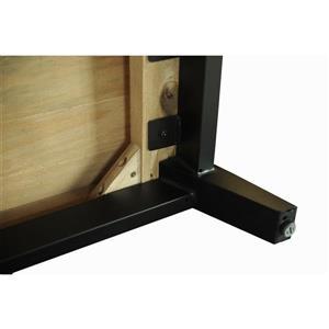 """CDI Furniture Dixon Nightstand - 22"""" x 26"""" - Wood - Black"""