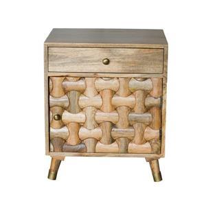 """CDI Furniture Clio Nightstand - 20"""" x 26"""" - Wood - Honey"""