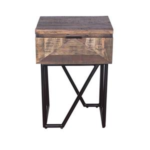 "CDI Furniture Casual Nightstand - 20"" x 28"" - Wood - Natural"