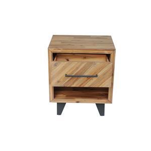 "CDI Furniture Avalon Nightstand - 22"" x 26"" - Wood - Natural"
