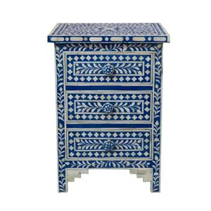 "CDI Furniture Aida Nightstand - 16"" x 24"" - Wood - Blue"