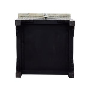 "CDI Furniture Aida Nightstand - 16"" x 24"" - Wood - Black"