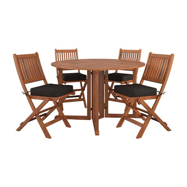 Corliving Outdoor Folding Dining Set, Folding Patio Furniture Dining Sets