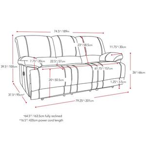 CorLiving Bonded Leather Power Reclining Sofa Set - 3 Pieces