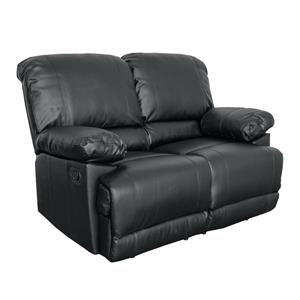 CorLiving Bonded Leather Reclining Sofa Set - 2  Pieces - Black