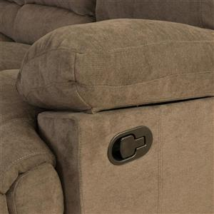 CorLiving Chenille Fabric Reclining Loveseat - Brown