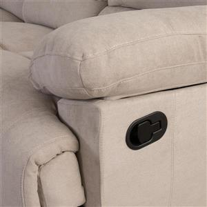 CorLiving Chenille Fabric Reclining Loveseat - Beige