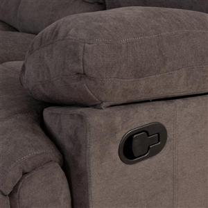 CorLiving Chenille Fabric Reclining Sofa - Grey
