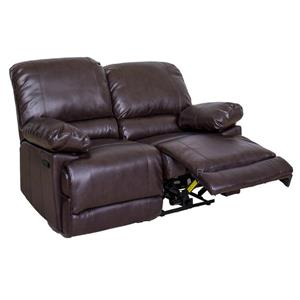 CorLiving Bonded Leather Reclining Loveseat - Chocolate