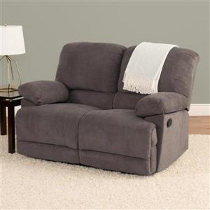 CorLiving Chenille Fabric Reclining Loveseat - Grey