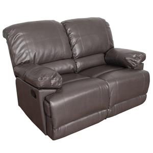 CorLiving Bonded Leather Reclining Loveseat - Brown