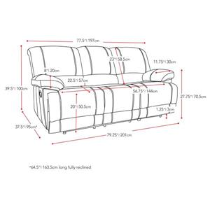 CorLiving Bonded Leather Reclining Sofa - Brown