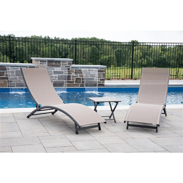 Vivere C Springs Lounge Chairs, Pool Chaise Lounge Chairs Canada