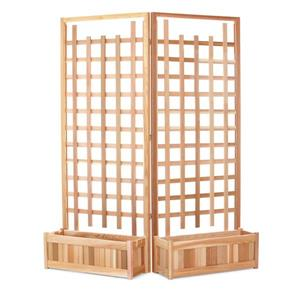 All Things Cedar Planter Set with Trellis - 4 Pieces