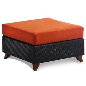 "All Things Cedar Deep Seat Ottoman - Orange - 27"""
