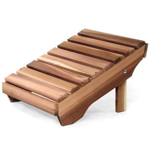"All Things Cedar Adirondack Ottoman - Natural - 20""x24""x14"""