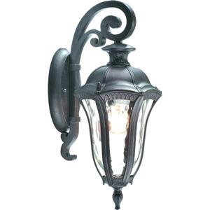BELDI Sutton Outdoor Light - Rippled Glass - Black
