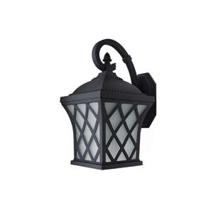 BELDI Brevent Outdoor Light -  White Glass - Black