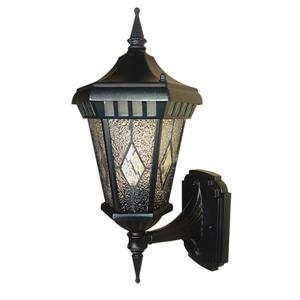 BELDI Verbier Outdoor Light - Hammered Glass - Black