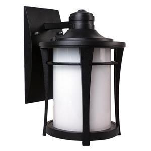BELDI Cleveland Outdoor Light - White Glass - Black