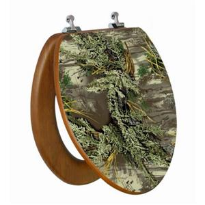 Topseat Toilet Seat with High Res 3D Image - Elongated - Camouflage