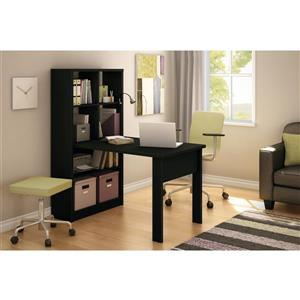 South Shore Furniture Annexe Work Table and Storage - 53.3-in x 31.41-in x 59.25-in - Black
