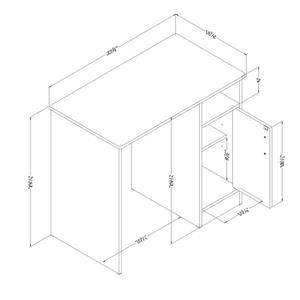 South Shore Furniture Axess Desk - 33.75-in x 19-in x 30-in - Black